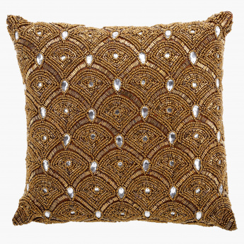 Elite d'Art Embellished Cushion - 30x30 cms