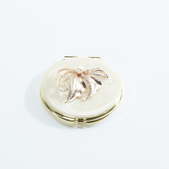 Butterfly Detail Round Compact Mirror