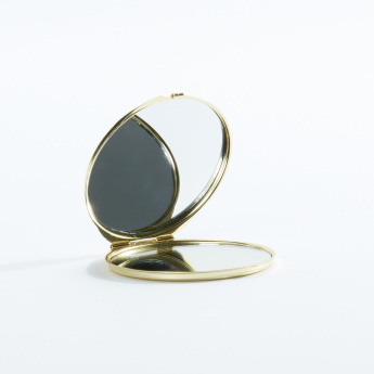 Bowknot Studded Round Compact Mirror