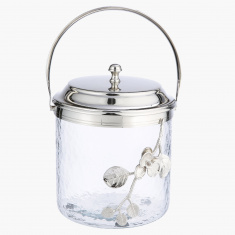 Elite d'Art Ice Bucket with Orchid Flower Accent