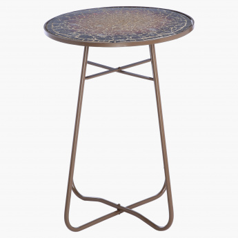 Elite d'Art Mosaic Round Side Table