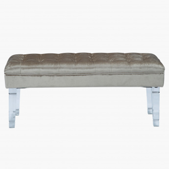 Elite d'Art Quilted Bench with Button Detail – 110x44x45 cms