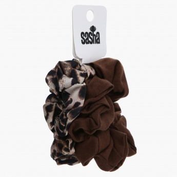 Sasha Textured Scrunchy - Set of 2