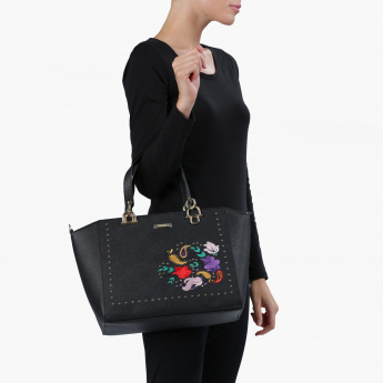 Charlotte Reid Embroidered Tote Bag