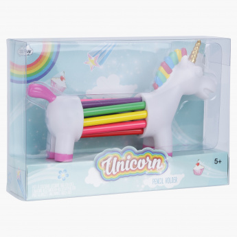 npw Unicorn Rainbow Pencil Holder