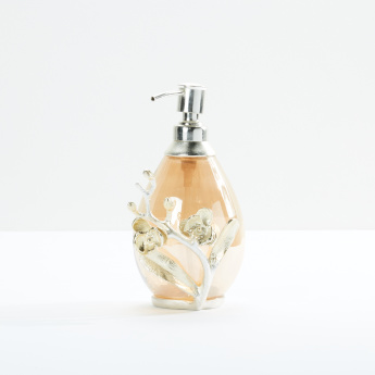 Orchid Soap Dispenser with Metallic Accent