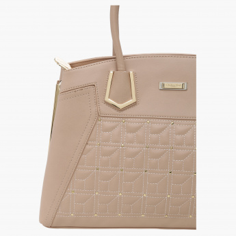 Charlotte Reid Quilted Tote Bag with Zip Detail