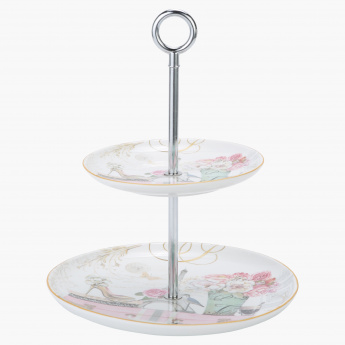 Adore Printed 2-Tier Cake Stand in Box