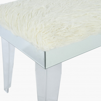 Elite d'Art Plush Bench - 103.5x41.5x48.5 cms