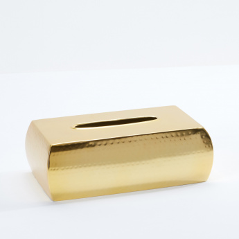 Hammered Satin Gold Rectangular Tissue Box Cover