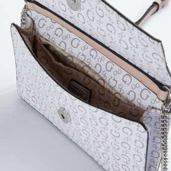 Guess Textured Crossbody Bag with Magnetic Snap Closure