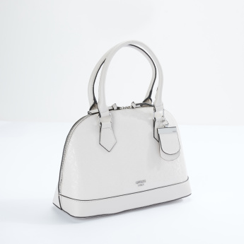 Guess Textured Dome Bag with Zip Closure