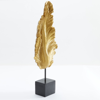 Decorative Leaf Figurine with Stand