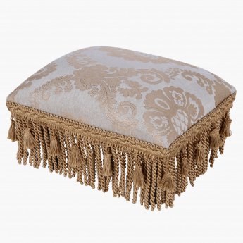 Elite d'Art Embroidered Foot Stool -  38x25 cms