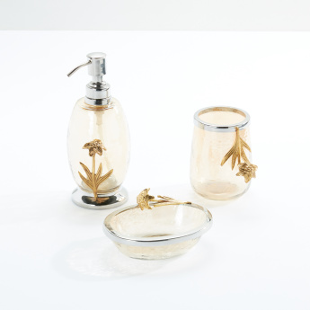 Golden Grass Metallic 3-Piece Bathroom Set
