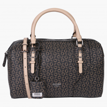 Guess Printed Duffle Bag with Zip Closure  2c05c2076a0e8