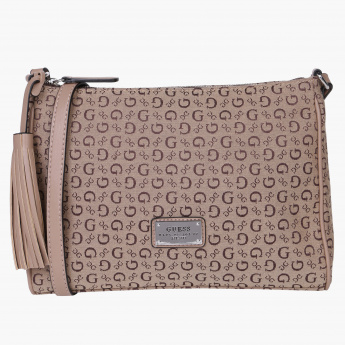 3d6f9a682c98 Guess Textured Crossbody Bag with Zip Closure