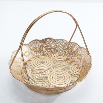 Decorative Basket with Handle