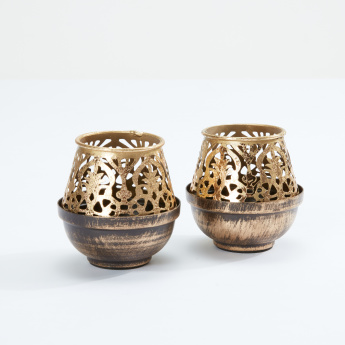 Metallic Tealight Holder - Set of 2