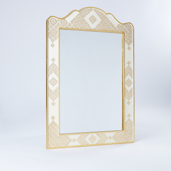 Printed Framed Wall Mirror