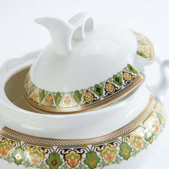 Printed Casserole with Lid and Spoon