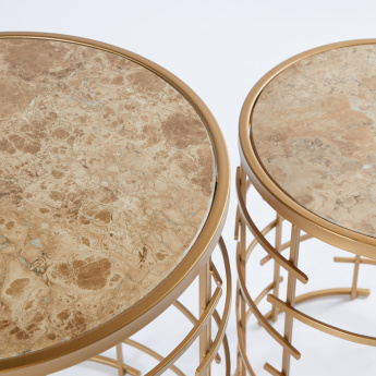 Metallic Round Table - Set of 2
