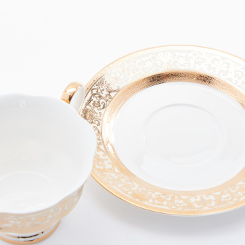 Decorative Cup and Saucer Set