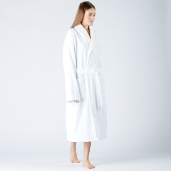 Linda Long Sleeves Bathrobe with Tie-Up Detail