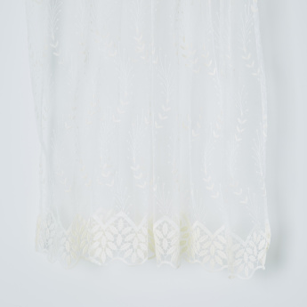 Printed 2-Piece Eyelet Curtains - 140x260 cms