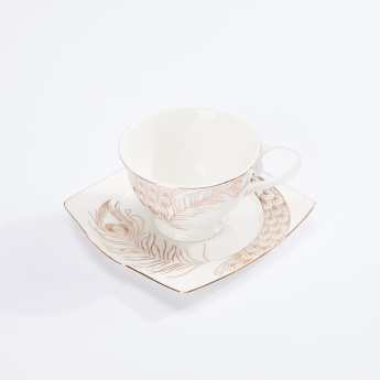 Printed Cup and Saucer Set