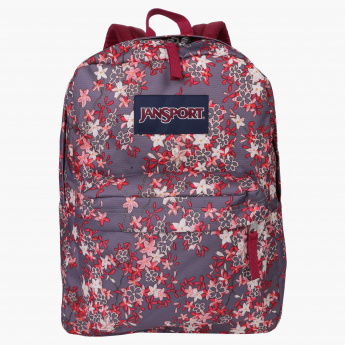 Jansport Printed Backpack with Zip Closure