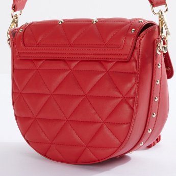 19V69 Quilted Satchel Bag with Magnetic Snap Closure