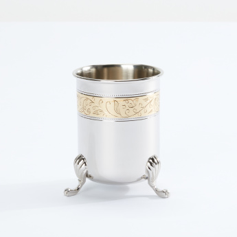 Textured Tumbler with Metallic Accents