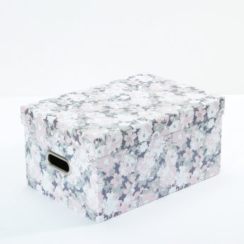 Tri-Coastal Printed Storage Box with Lid