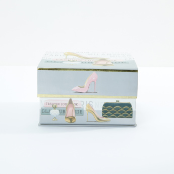 Tri-Coastal Printed Nested Square Box