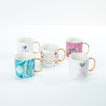 Printed Mug with Metallic Handle - 550 ml