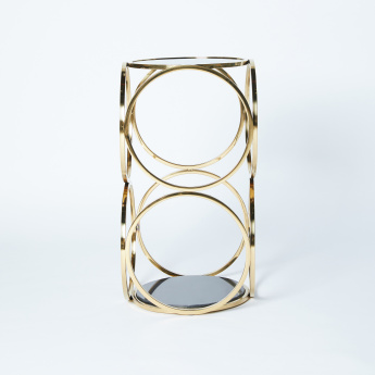 Metallic Frame End Table