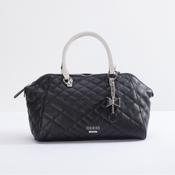 Guess Quilted Handbag with Zip Closure |