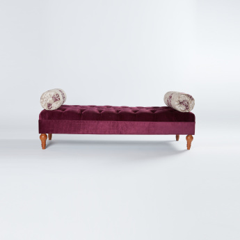 Sebastian Embroidered 2-Seater Bolster Bench