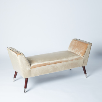 Lorina Studded 2-Seater Bench