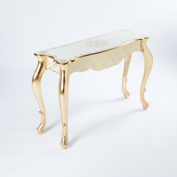Decorative Console Table with Curved Legs