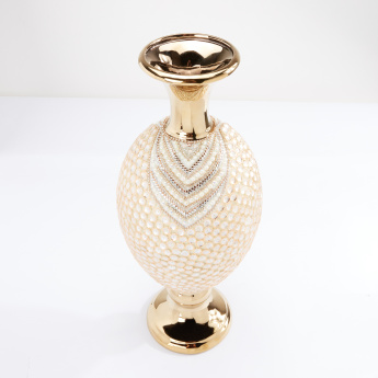 Embellished Vase with Pearl Detail