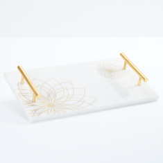 Rectangular Tray with Screen Print and Handle