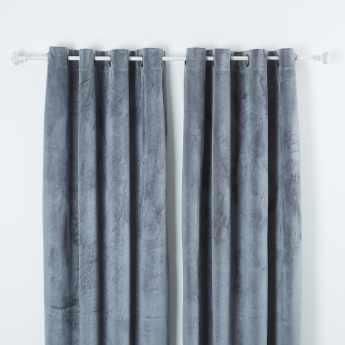 Italian Textured Curtain Pair - 140x260 cms