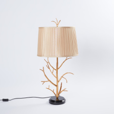 Textured Table Lamp with Metallic Branched Base