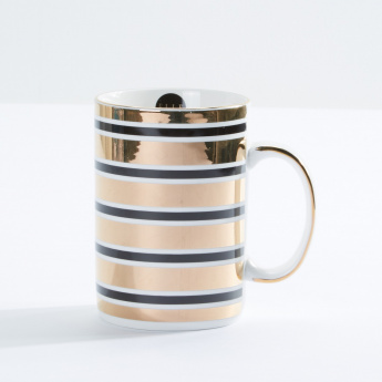 Elle Decor Striped Mug