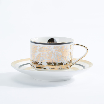 Elle Decor Printed Cup and Saucer