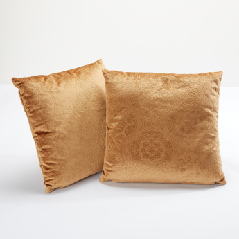 Samantha Textured 2-Piece Filled Cushion Set - 40x40 cms