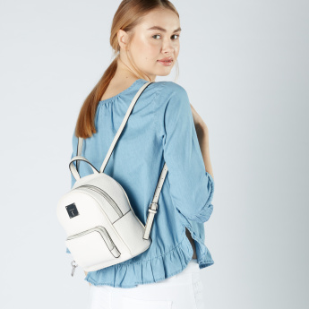 Fiorelli Textured Backpack with Zip Closure and Adjustable Straps ...