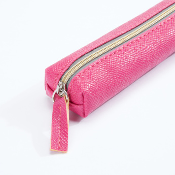Syloon Textured Pencil Case with Zip Closure
